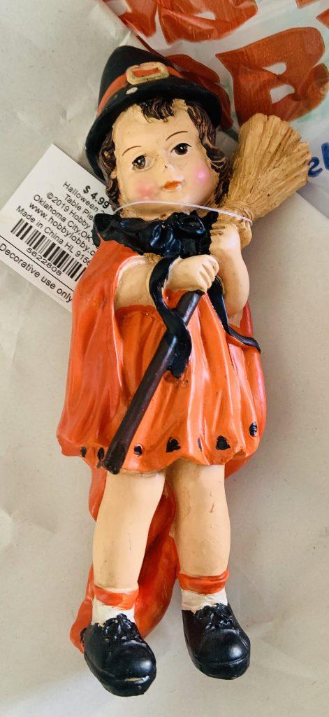glittered halloween figurine