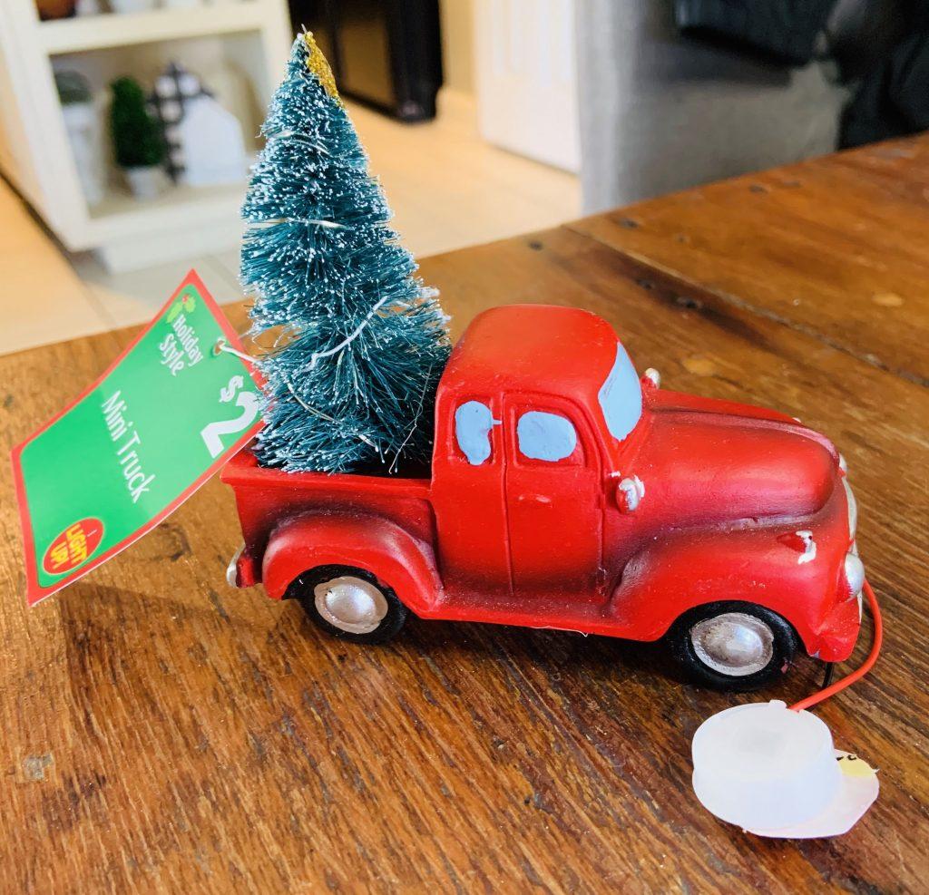 Christmas little red truck makeover