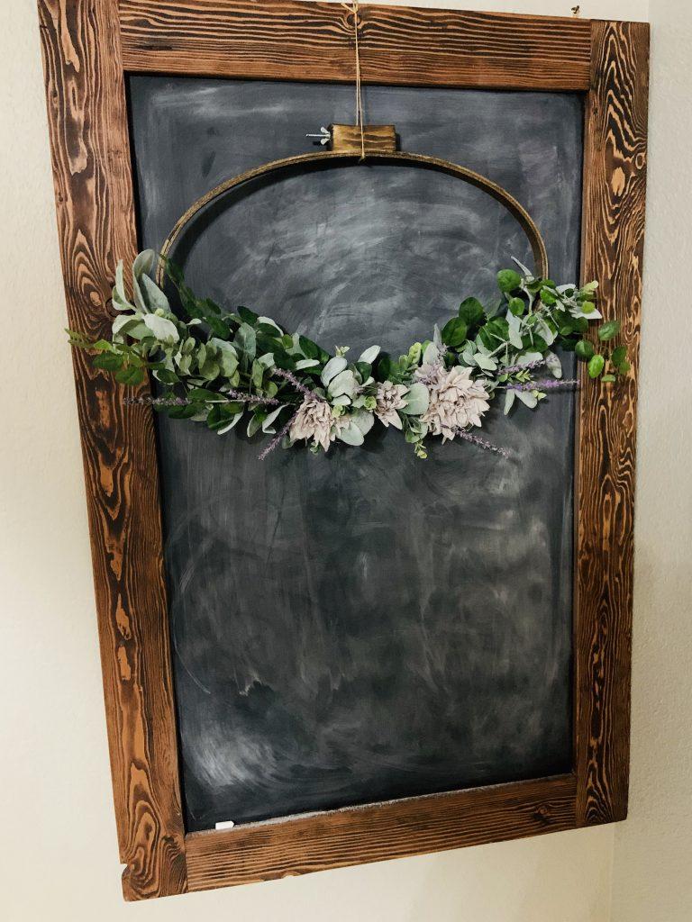 spring embroidery hoop wreath