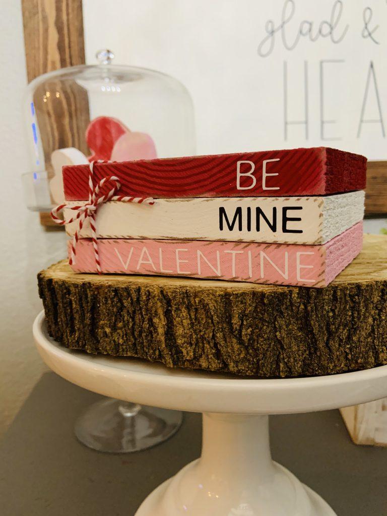 Valentine wood block stack
