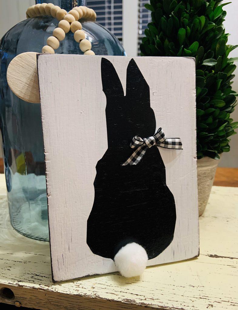scrap wood Easter bunny