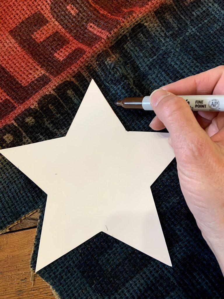 grain sack patriotic stars